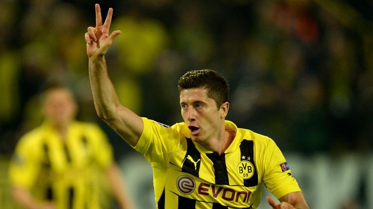 'Hat trick' de Lewandowski en el 6-1 del Dortmund al Stuttgart