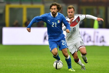 Italia y Alemania empataron a un tanto en partido amistoso