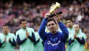 Leo Messi ofreció al Camp Nou su tercera Bota de Oro