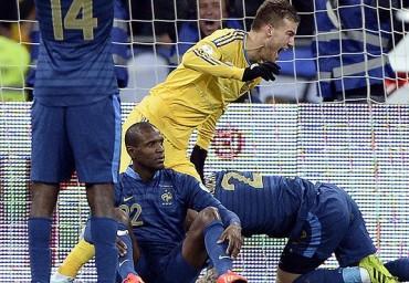 Francia no supo evitar una derrota ante Ucrania