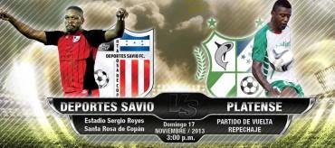Deportes Savio y Platense se medirán hoy en Copan