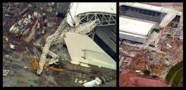 Tres muerto en un accidente en el estadio inaugural de Brasil 2014
