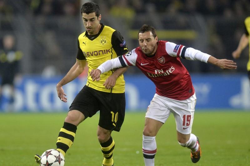 El Arsenal derrotó hoy al Borussia Dortmund