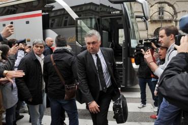"""Ancelotti: """"No estoy contento con el trabajo defensivo"""""""