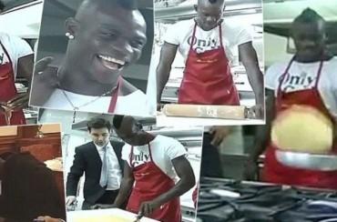 Balotelli probó a cocinar por primera vez