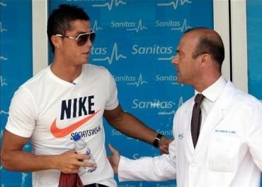 Cristiano Ronaldo sufre una lesión en  su muslo izquierdo