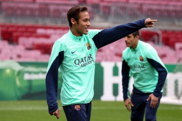 El Barça realiza el último entrenamiento antes de enfrentarse al Celtic
