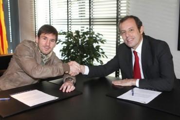 """Rosell: """"Haremos lo posible y lo imposible para que Messi siga en el Barça"""""""