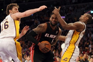 El 'Big Three' de Miami es demasiado para los Lakers
