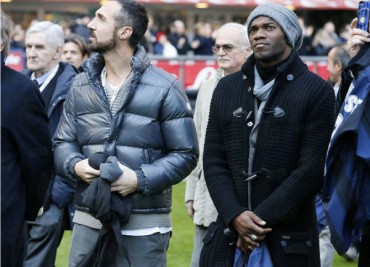 David Suazo disfrutó junto a varios jugadores del Inter de Milán