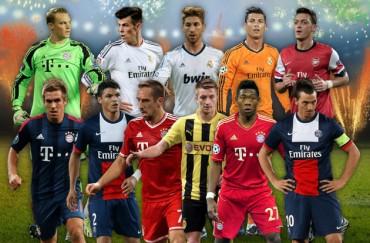 Tres del Madrid y ninguno del Barça en el once UEFA de 2013