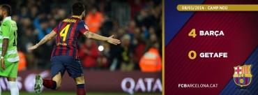 El Barça deja resuelta la eliminatoria con dobletes de Cesc y Messi