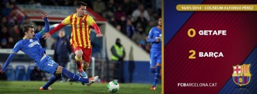 Con doblete de Messi el Barcelona venció al Getafe