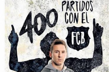 Leo Messi cumple 400 partidos como jugador del Barça