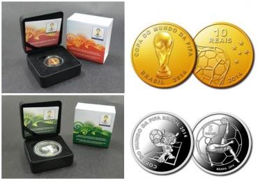 Monedas conmemorativas para el mundial de Brasil 2014