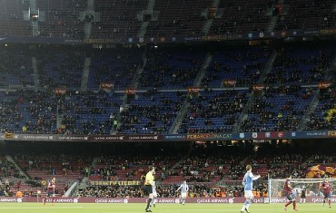 El Camp Nou, desierto: sólo 38.505 espectadores