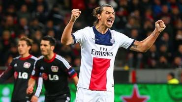 Con doblete de Zlatan, el PSG goleó al Bayer Leverkusen