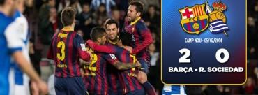 Barcelona se reivindica ante la Real Sociedad en la Copa del Rey