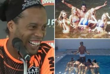 El portero del Atlético Minero peruano imita la famosa foto de Ronaldinho