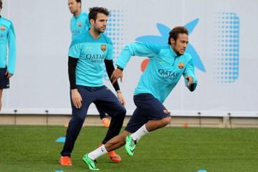 Neymar ya vuelve a entrenar con el grupo