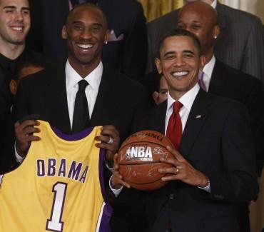 """Kobe Bryant: """"Obama podría jugar en los actuales Lakers"""""""