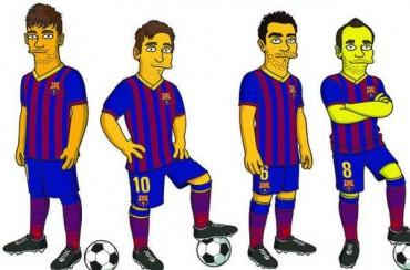 Messi, Neymar, Xavi e Iniesta ya tienen su versión de 'Los Simpsons'