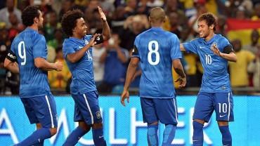 Con hat-trick de Neymar, Brasil goleó 5-0 a Sudáfrica