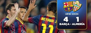 Barça  Triunfa y se pone a '1' del Madrid