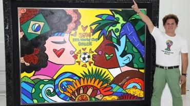 Britto pone su arte al servicio de la Copa Mundial de la FIFA