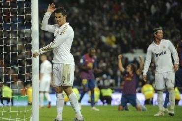 Negra estadística de CR7 y Ancelotti ante el Barça