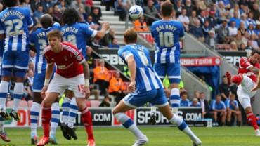 Wigan desaprovecharon una valiosa oportunidad de apuntarse un triunfo en casa