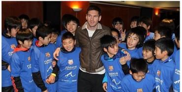 Messi arropa a damnificados por el tsunami de Japón