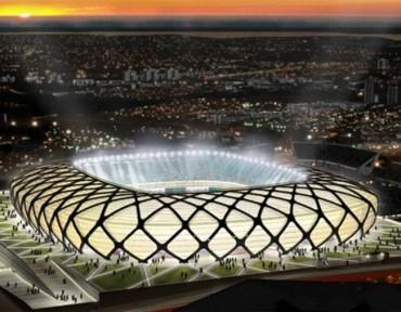 Brasil inaugura Arena da Amazonia donde jugara la Bicolor