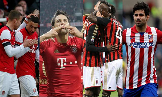 Liga de Campeones: Bayern y Atlético apuntan a cuartos