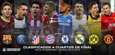 Clasificados a cuartos de final de la Champions League