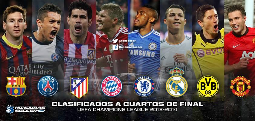 Clasificados a cuartos de final de la Champions LeagueHonduras ...