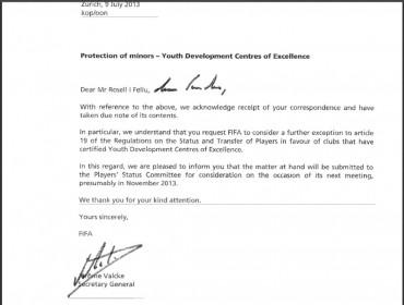 El Barça publica todos sus contactos con la FIFA