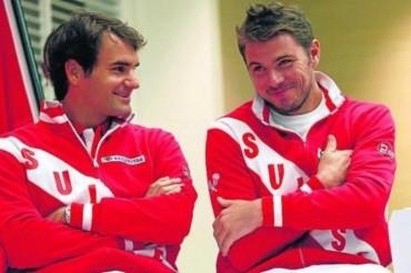 Federer evita el naufragio de Suiza en la Copa Davis