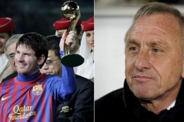 Johan Cruyff protege a Messi y critica al Barcelona