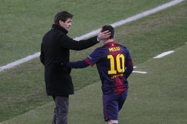 Los jugadores del Barça se despiden de Tito Vilanova