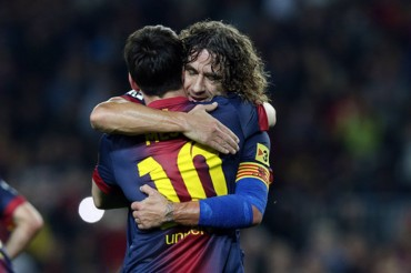 """Messi: """"Afortunado de haber compartido vestuario contigo Puyol"""""""