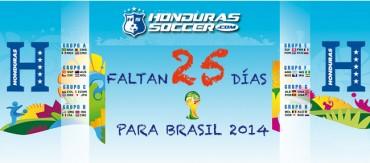 Faltan 25 Días para el Mundia Brasil 2014