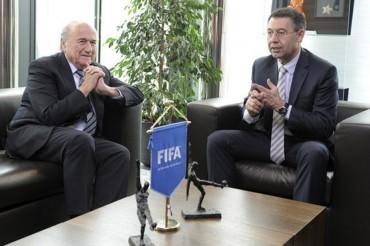 Bartomeu no habló de la sanción FIFA durante su visita de cortesía a Blatter