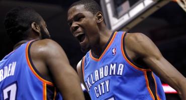 Un imparable Durant lleva a los Thunder a la final del Oeste