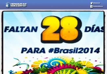 Faltan 28 días para Brasil 2014