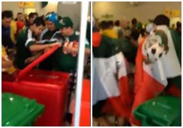 """VIDEO: Mexicanos son grabados """"robando"""" cervezas en Brasil"""
