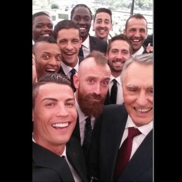 El 'selfie' de la selección portuguesa