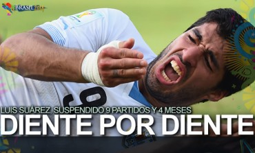 Luis Suárez fue suspendido nueve partidos y cuatro meses