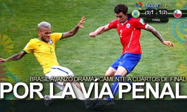 Julio Cesar atajó el desastre y puso a Brasil en Cuartos