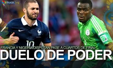 Francia y Nigeria, por un boleto a Cuartos de Final